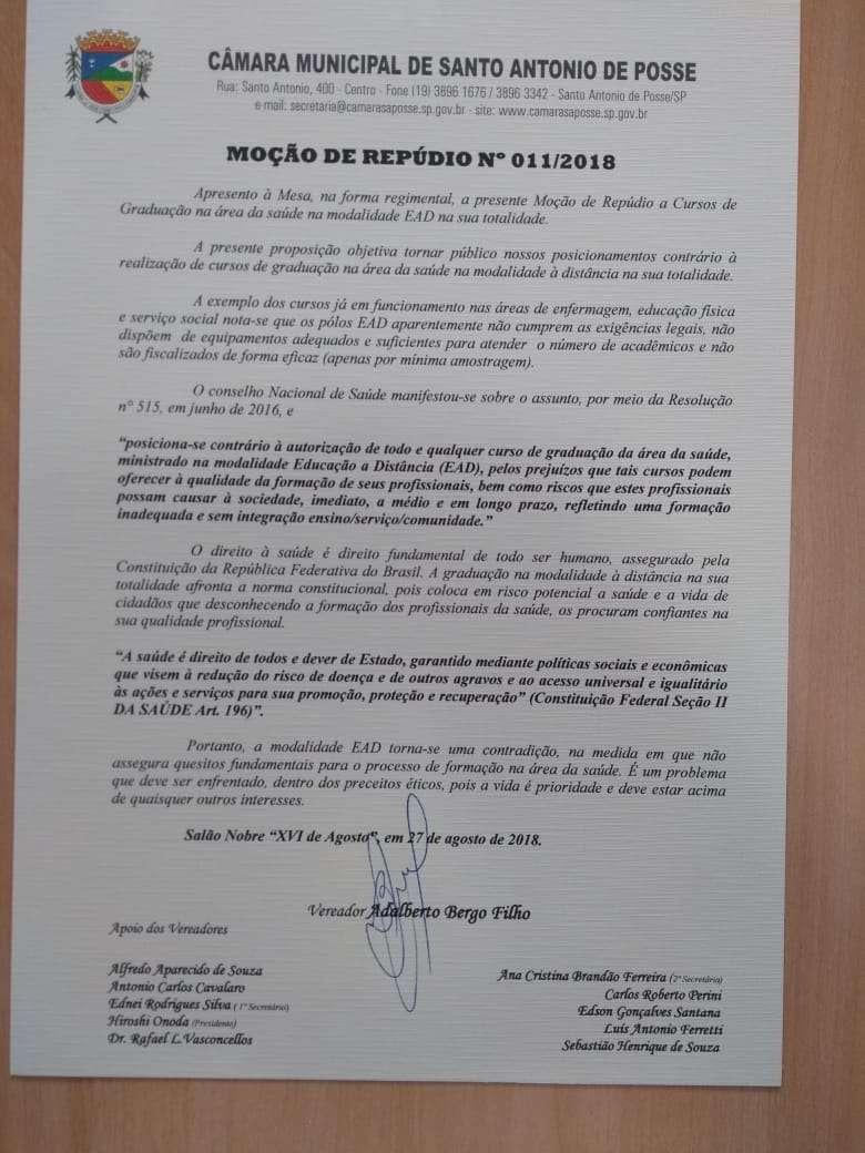 48 municípios aprovam moções de repúdio contra o ensino a distância